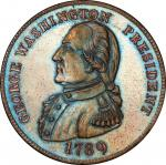 Circa 1863 fantasy by Alfred Robinson. Musante GW-16, Baker-14. Copper. MS-64 BN (PCGS).
