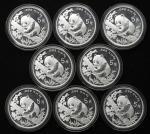 1995年熊猫纪念银币1/2盎司 完未流通