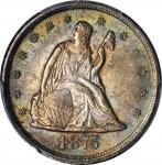 1875-CC Twenty-Cent Piece. BF-2. Rarity-1. MS-64 (PCGS).