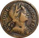 1785 Connecticut Copper. Miller 6.4-I, W-2420. Rarity-2. Mailed Bust Right. VF-35 (PCGS).