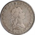 1795/1795 Flowing Hair Half Dollar. O-111, T-19. Rarity-4+. Recut Date, Three Leaves. VF-25 (PCGS).