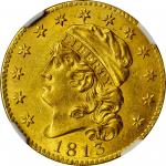 1813 Capped Head Left Half Eagle. BD-1. Rarity-2. MS-62 (NGC).