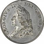 1757 Treaty of Easton or Quaker Indian Peace Medal. Restrike. Julian IP-49, Betts-401, Jamieson Fig.