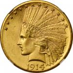 1914-D Indian Eagle. MS-65 (NGC).