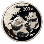 2006年一公斤熊猫纪念银币一枚