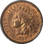 1869 Indian Cent. MS-64 RB (PCGS). CAC.