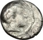 Etruscan Coins, Etruria, Populonia. AR 5-Asses, 3rd century BC. Vecchi EC I, 90(O2), HN Italy 170, H