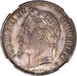 FRANCE. 5 Franc, 1869-BB. NGC MS-63.