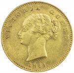 BRITISH INDIA: Victoria, Queen, 1837-1876, AV mohur, 1841(c), KM-462.2, S&W-2.1, continuous legend,