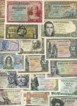 El Banco de Espana, 50 centavos, 1957, 1 peseta (13), 1937-. 2 pesetas (3), 1937, 1938 and 5 pesetas