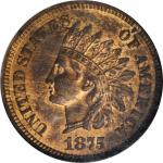 1875 Indian Cent. MS-64 RB (NGC).