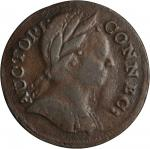 1785 Connecticut Copper. Miller 6.1-A.1, W-2390. Rarity-5+. Mailed Bust Right. VF-20 (PCGS).