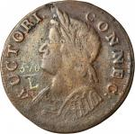 1786 Connecticut Copper. Miller 5.10-L, W-2650. Rarity-6-. Mailed Bust Left. VF-25 (PCGS).