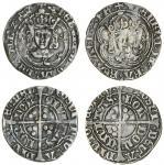 Henry VII (1485-1509), Groats (2), both type IIIC, 2.64g, m.m. greyhound head 2/ greyhound head 1, h