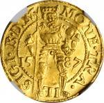 TRANSYLVANIA.Ducat, 1587. Sibiu (Hermannstadt) Mint. Sigismund Bathory. NGC MS-62.