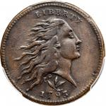 1793 Flowing Hair Cent. Wreath Reverse. S-8. Rarity-3. Vine and Bars Edge. VF-35 (PCGS).