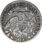 G.W. LAUGHLIN on an 1831 Capped Bust half dollar O-101. Brunk-Unlisted, Rulau-Unlisted. Host coin Fi