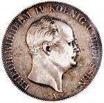 1859-A普鲁士2塔勒银币,PCGS XF Detail,有清洗