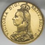 GREAT BRITAIN Victoria ヴィクトリア(1837~1901) 2Pounds 1887 NGC-PF63 Proof UNC