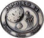 1971 Apollo 14 Flown Robbins Medal. Sterling Silver. No. 127 of 303 Flown, presented to Alan L. Bean