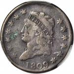 1809 Classic Head Cent. S-280, the only known dies. Rarity-2. Fine Details--Environmental Damage (PC
