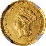 1857-C Gold Dollar. AU-55 (NGC).