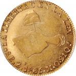 MEXICO. 8 Escudos, 1865-Zs MO. Zacatecas Mint. PCGS AU-53 Gold Shield.