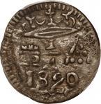 COLOMBIA. Santa Marta. 1/4 Real, 1820. PCGS EF-45 Gold Shield.