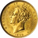 GREAT BRITAIN. Sovereign, 1826. London Mint. George IV. NGC MS-62. WINGS Approved.