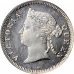 1877-H年洋元一毫。喜敦造币厂。MAURITIUS. 10 Cents, 1877-H. Heaton Mint. Victoria. PCGS PROOF-67.