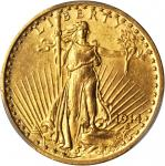 1914 Saint-Gaudens Double Eagle. MS-62 (PCGS).