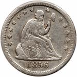 1856-S/S Liberty Seated Quarter Dollar. PCGS VF35