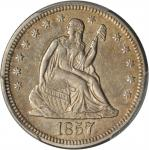 1857-O Liberty Seated Quarter. Briggs 7-C. EF-45 (PCGS).
