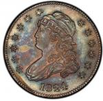 1824/2 Capped Bust Quarter. Browning-1. Rarity-3. Mint State-64 (PCGS).PCGS Population: 1, non