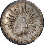 1854-C CE年墨西哥鹰洋壹圆银币。MEXICO. 8 Reales, 1854-C CE. Culiacan Mint. NGC MS-61.