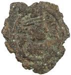 SASANIAN KINGDOM: Ardashir III, 628-630, AE pashiz (0.82g), MM, year 2, standard design, with the ru
