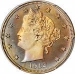 1912 Liberty Head Nickel. Proof-67 (PCGS).
