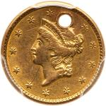 1851 $1 Gold Liberty. PCGS AU