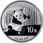 2014年熊猫纪念银币1盎司 PCGS MS 70