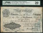Bank of England, E.M. Harvey, £100, Manchester 13 November 1923, serial number 46Y 00298, black and