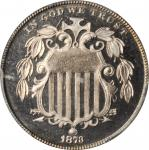 1873 Shield Nickel. Close 3. Proof-66+ Cameo (PCGS). CAC.