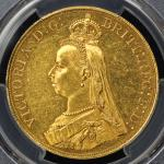 GREAT BRITAIN Victoria ヴィクトリア(1837~1901) 5Pounds 1887 PCGS-AU55 EF