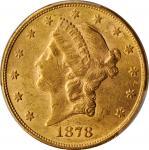 1878 Liberty Head Double Eagle. AU-58 (PCGS). CAC.