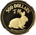1987年500元,生肖系列,兔年。