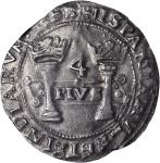 MEXICO. Early Series. 4 Reales, ND (1541) oMo-oPo. Assayer P. Carlos and Johanna (1516-56). NGC AU-5