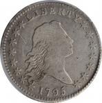 1795 Flowing Hair Half Dollar. O-105a, T-25. Rarity-4. Two Leaves. VG-10 (PCGS).