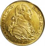 Spain. 1792-M MF 4 Escudos. Madrid Mint. Fr-294, KM-436.1, Cal-Type 23 #202. MS-62 (PCGS).
