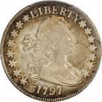 1797 Draped Bust Half Dollar. Small Eagle. O-101a, T-1. Rarity-4+. Fine-15 (PCGS). Gold Shield Holde
