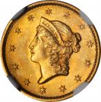 1852 Gold Dollar. MS-65+ (NGC).