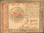 CC-96. Continental Currency. January 14, 1779. $45. About Uncirculated.